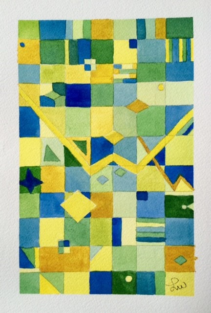 Inspired by Klee Shape Watercolor